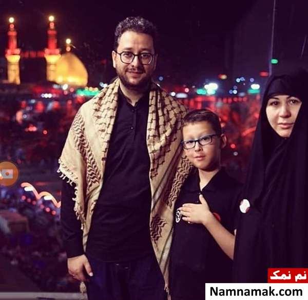 عکس همسر و پسر سید بشیر حسینی
