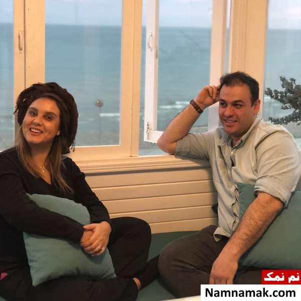 سهراب میرزایی و همسرش المیرا عبدی