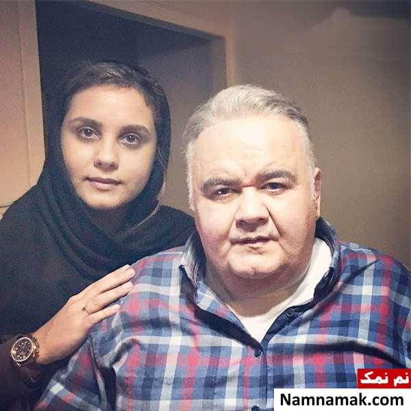 المیرا عبدی و پدرش اکبر عبدی