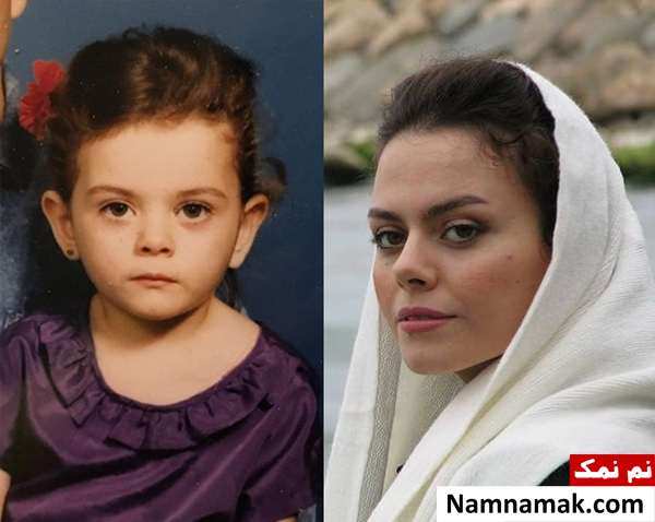 عکس کودکی غزال نظر