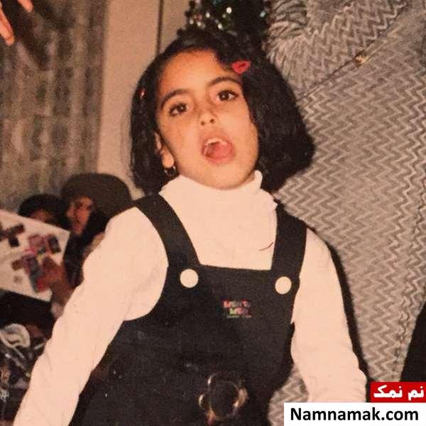 عکس کودکی ساناز طاری