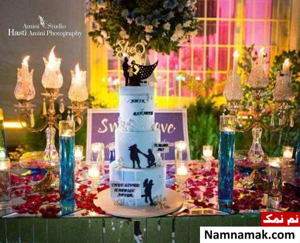 کیک عروسی بهاره رهنما