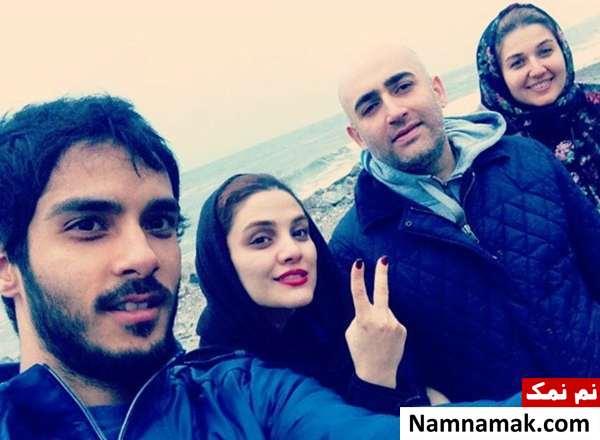 صبا سهیلی و همسرش و خانواده برادرش